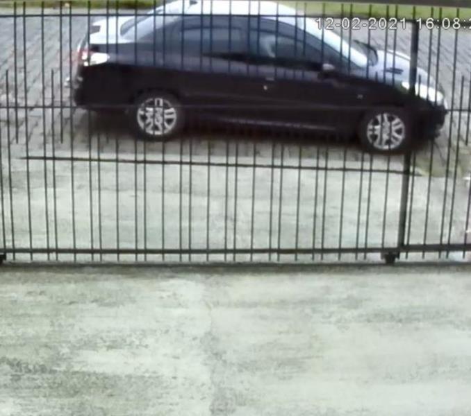 Flagrante foi registrado por câmeras de videomonitoramento