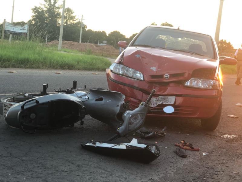 Caso aconteceu no Bairro Gressler no início da noite deste domingo
