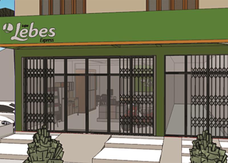 Projeção da fachada de como ficará a loja em Vale do Sol