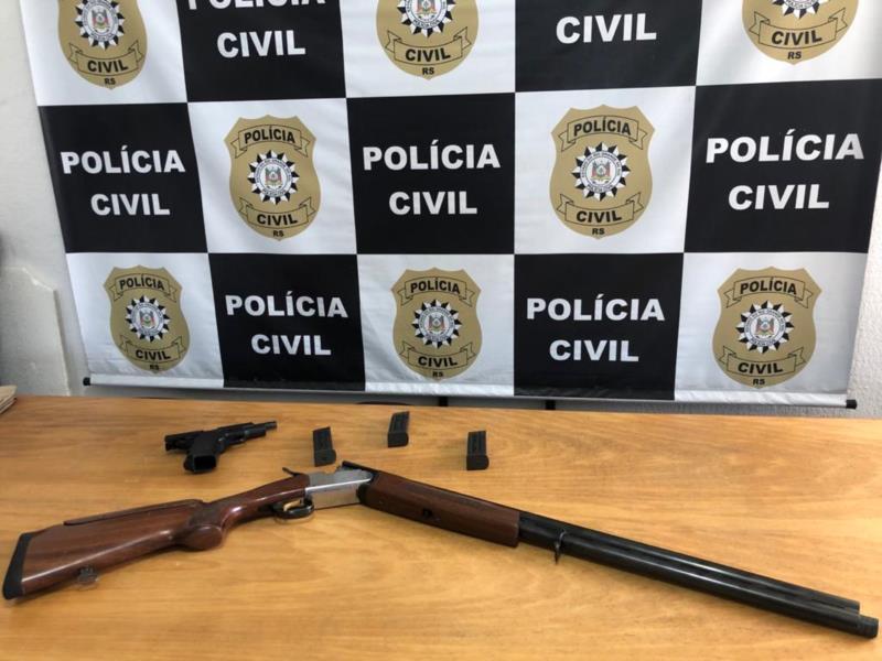 Armas apreendidas pela Polícia Civil