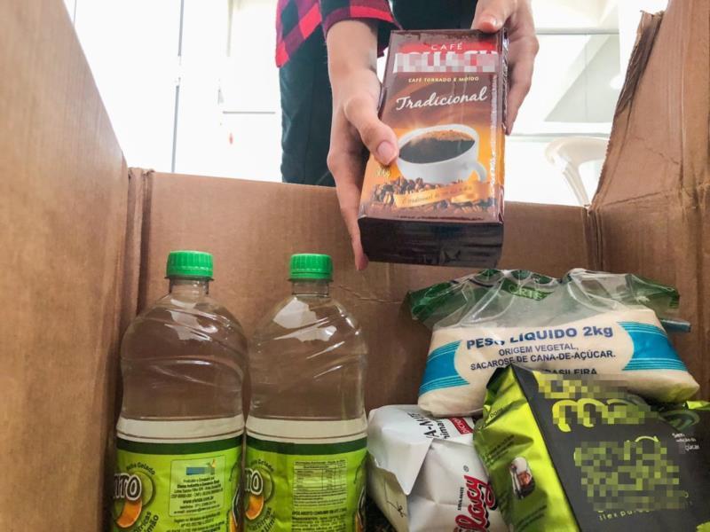 Alimentos vão ser repassados para o Centro de Assistência Social do município