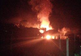 Casa é totalmente destruída pelo fogo no interior de Venâncio Aires
