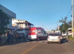 Colisão entre van e motocicleta deixa homem ferido em Venâncio Aires