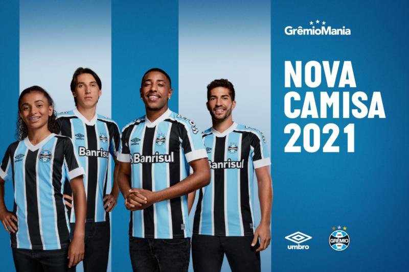 Grêmio e Umbro apresentam novos uniformes para a temporada 2021