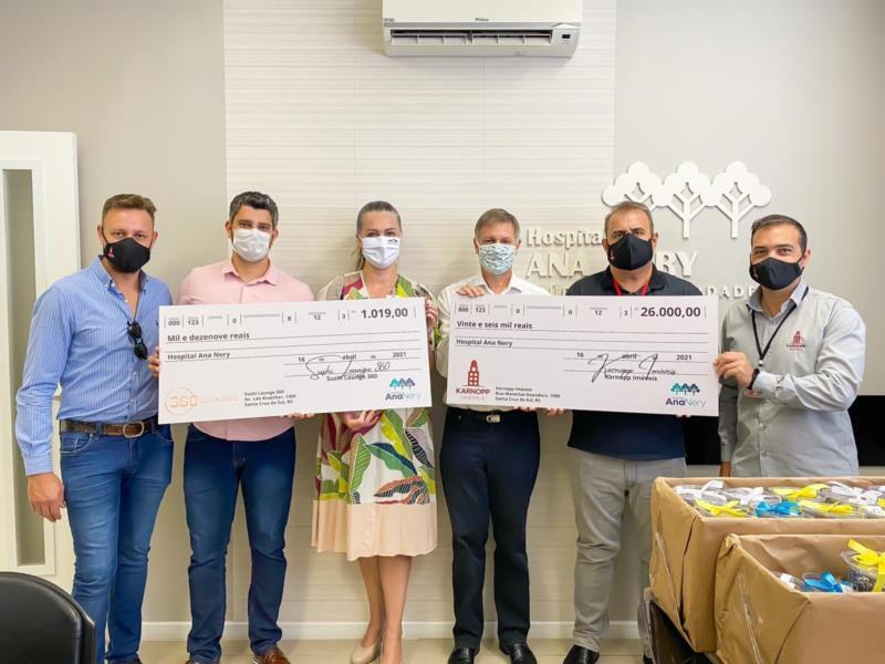 Karnopp Imóveis e 360 Sushi Lounge doam recursos de campanha ao Hospital Ana Nery