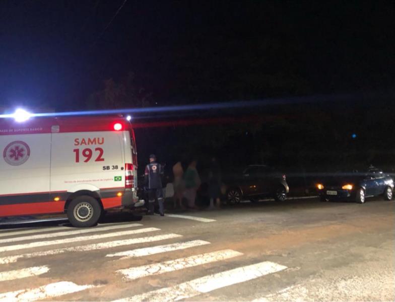 Motociclista fica ferido após colisão com carro em Santa Cruz