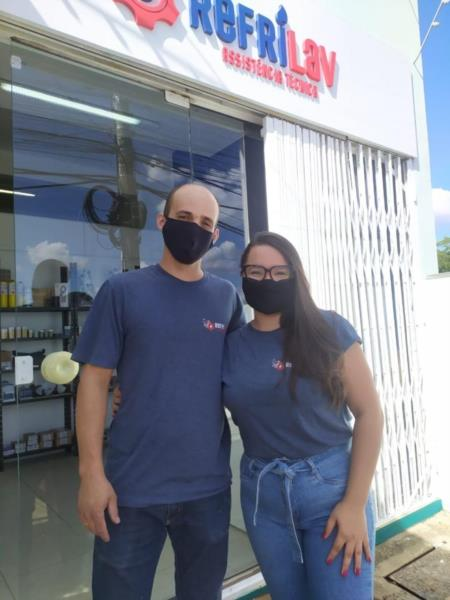 Diego e Daniella são os proprietários da empresa