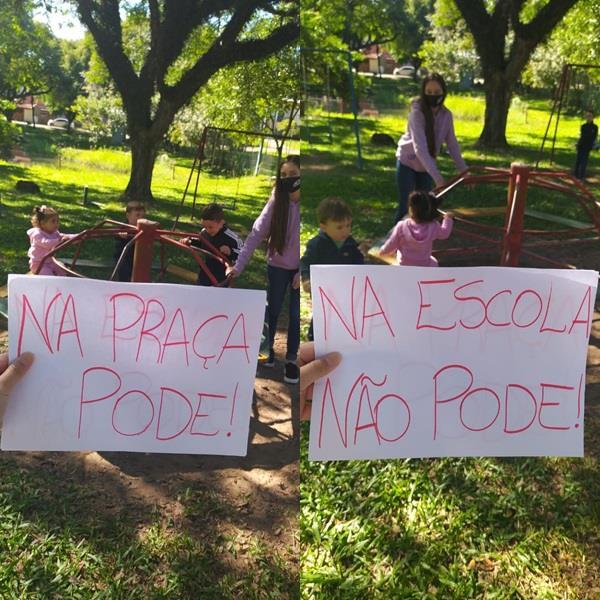 Protesto realizado em Santa Cruz do Sul