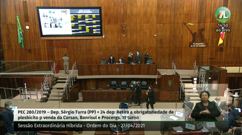 Aprovada, em primeiro turno, a PEC que retira exigência de plebiscito para a venda de três estatais