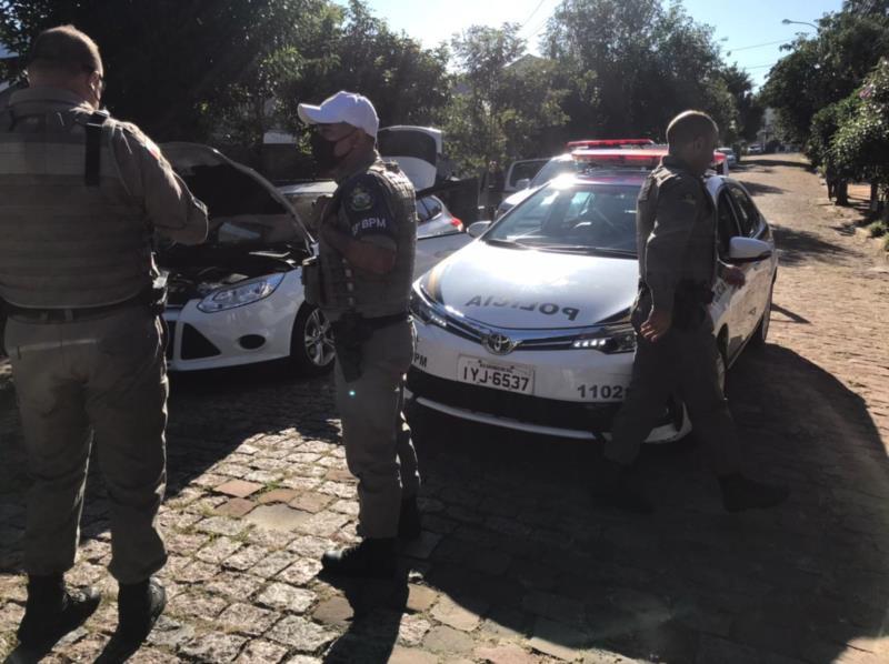 Perseguição terminou na Rua Bento Gonçalves, na área central