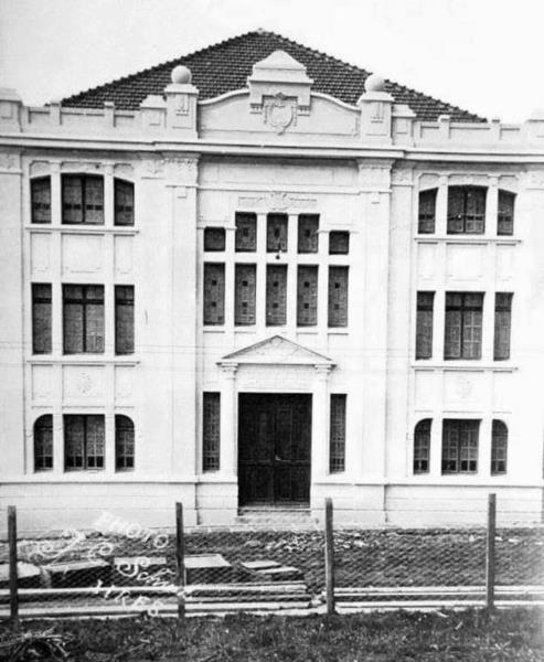 Imagem antiga do prédio centenário
