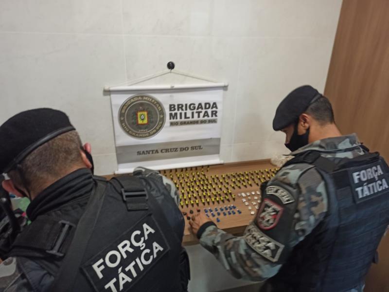 Ação foi realizada durante patrulhamento da Força Tática nesta segunda-feira