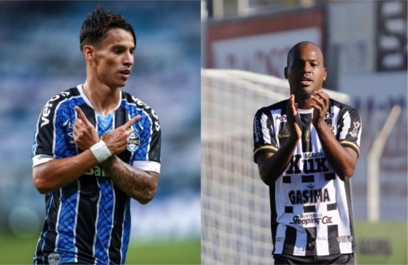 Ferreirinha é destaque no Grêmio. Do lado do Galo, Nena tem o faro do gol