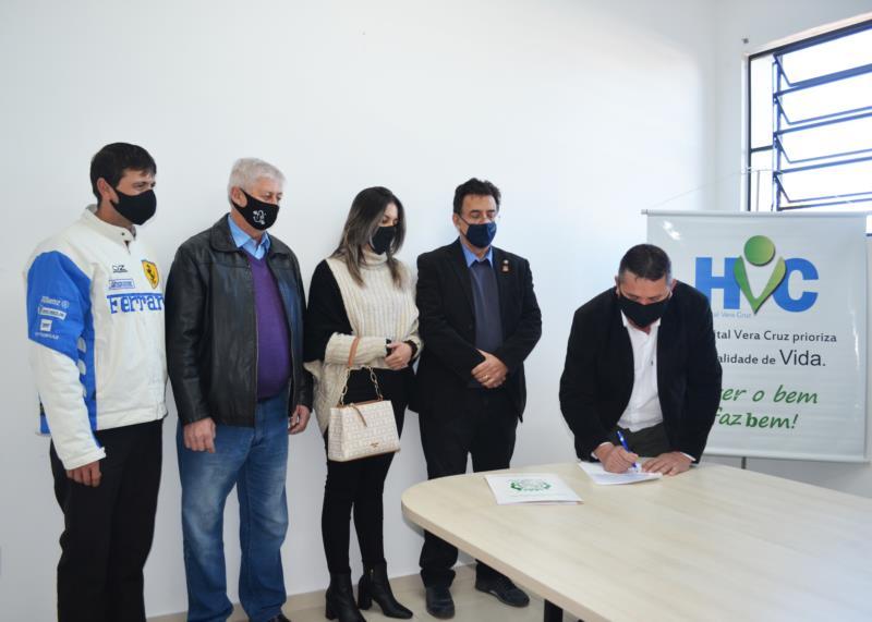 Contrato foi assinado pelo HVC e pela Prefeitura Municipal de Gramado Xavier na quarta-feira