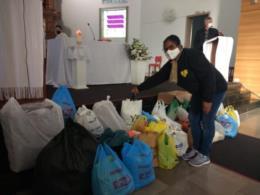 Doações chegam na Igreja Matriz Santa Tereza em Vera Cruz