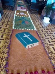 Tapetes na Igreja Matriz de São Sebastião Mártir de Venâncio Aires