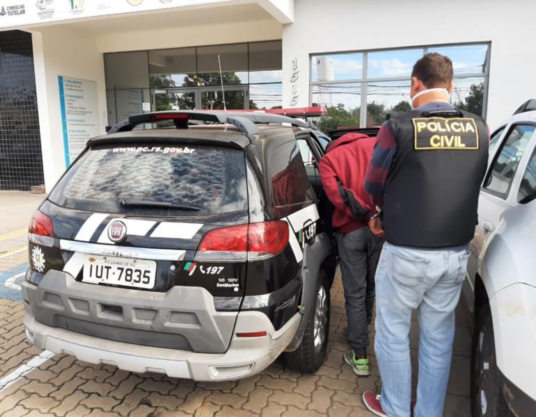 Prisão foi realizada pela Polícia Civil na manhã desta quarta-feira no Bairro Bom Jesus