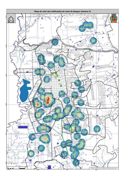 Mapa com casos suspeitos da doença foi divulgado nesta quinta