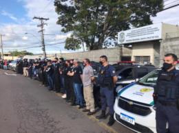 VÍDEO: Forças da Segurança Pública realizam sirenaço em Santa Cruz em homenagem a agente da Susepe morto