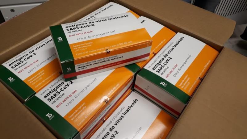 Remessa é parte do lote de 5 milhões de doses previsto para junho