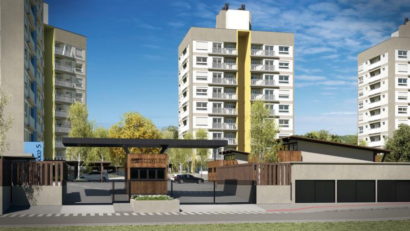 A planta do condomínio conta com cinco prédios