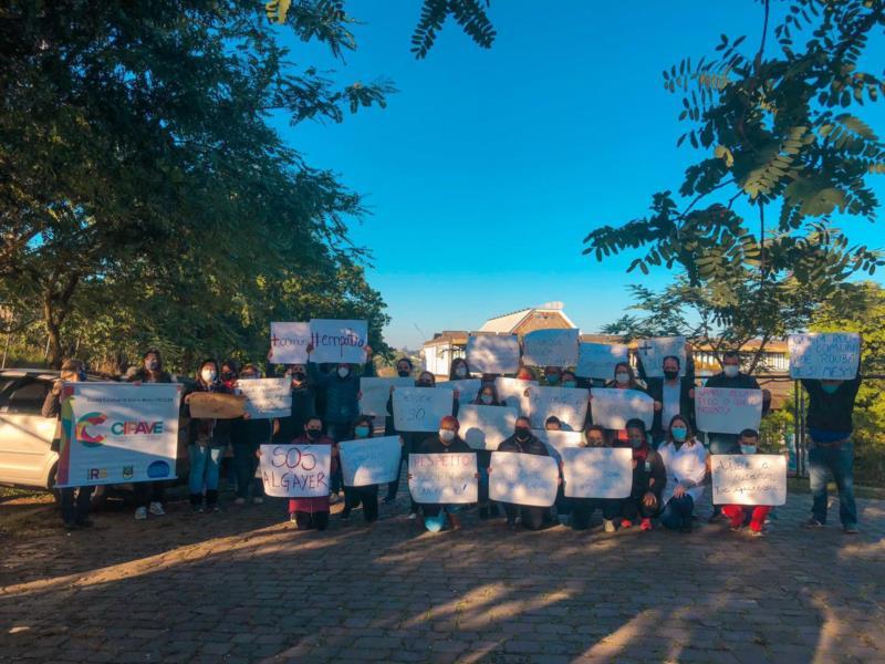 Manifesto foi realizado contra os recorrentes furtos na UBS Caic