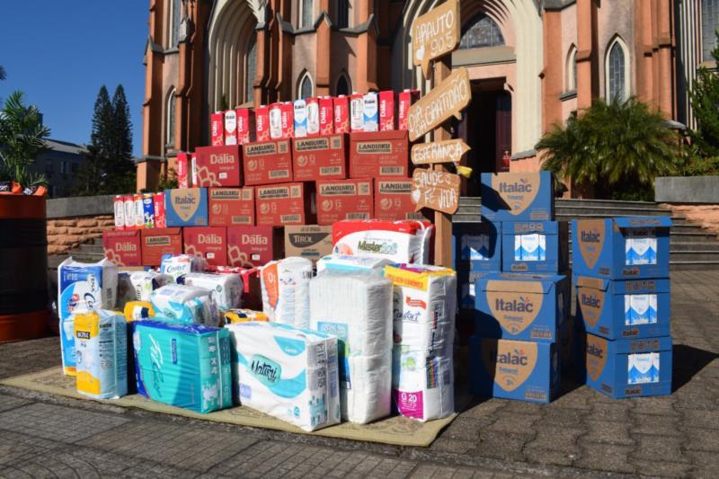 Ação da Arauto arrecada donativos em prol da Liga Feminina de Combate ao Câncer de Venâncio Aires