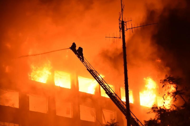 Incêndio atinge prédio da Secretaria de Segurança Pública do RS