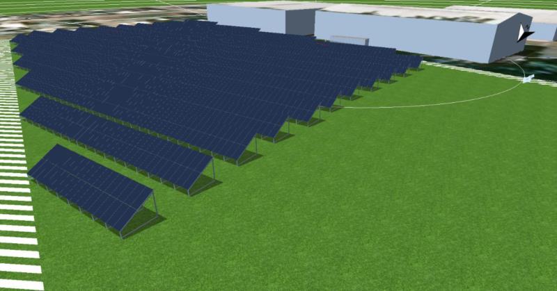 Primeira etapa do projeto será iniciada nos próximos dias e será capaz de gerar 1,18MWp