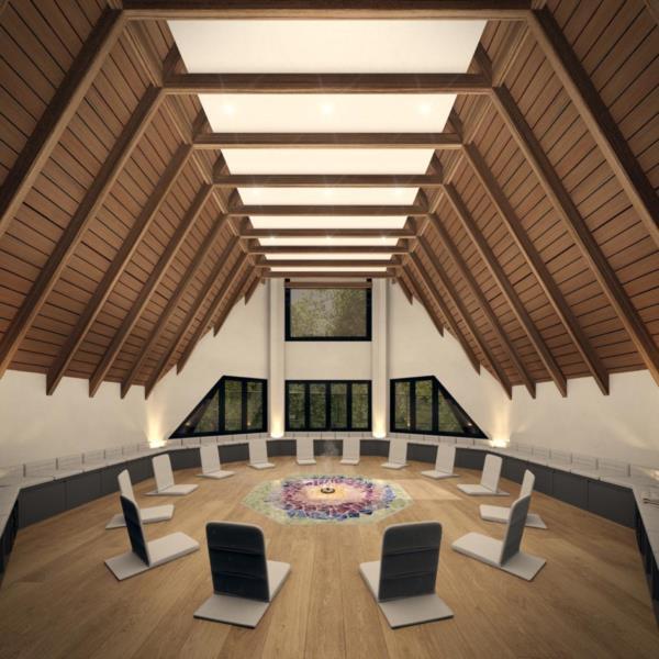 Um destes espaços é o centro holístico, com o intuito de reconectar a mente e o corpo