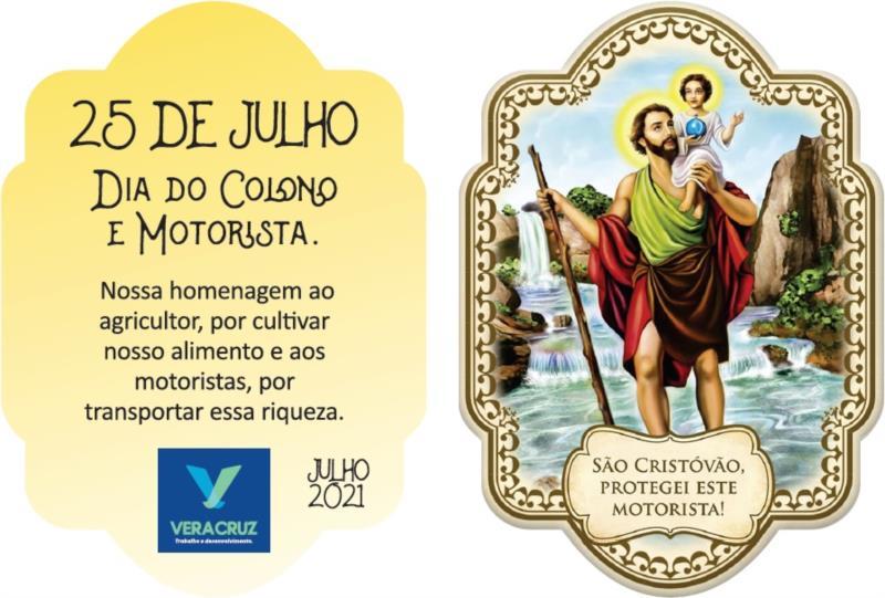 Tag com imagem de São Cristóvão, padroeiro dos motoristas, será abençoada e distribuída