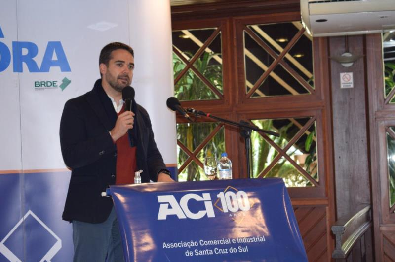 Governador falou sobre a situação econômica do estado durante cumprimento de agenda em Santa Cruz