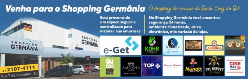 Shopping Germânia abre as portas para a e-Get Desenvolvimento de Sistemas