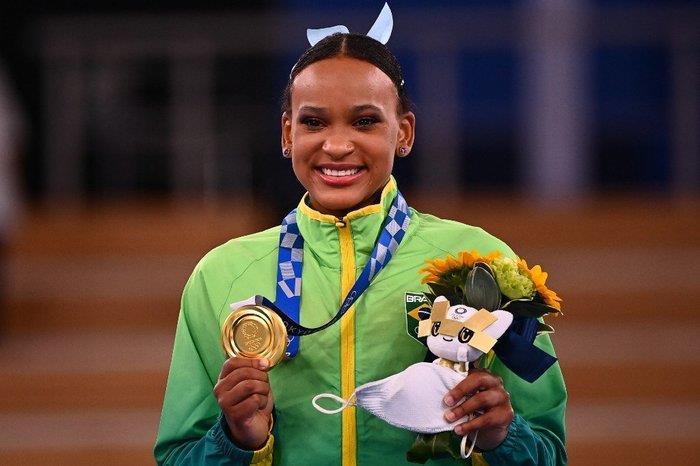 Ginasta brasileira chegou a sua segunda medalha nas Olimpíadas de Tóquio
