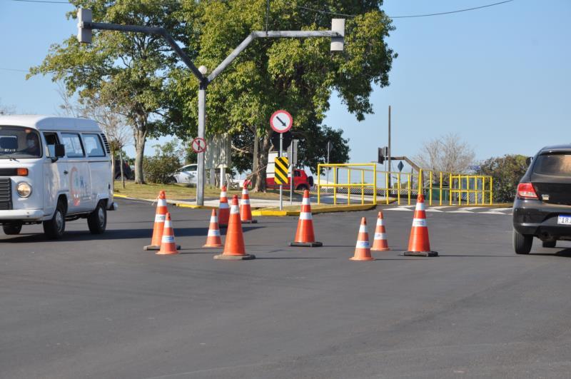 Testes com cones foram feitos no início de julho, na avenida