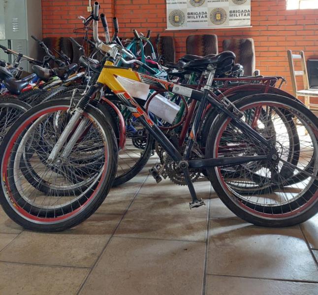 Bicicletas foram apreendidas em diferentes ações