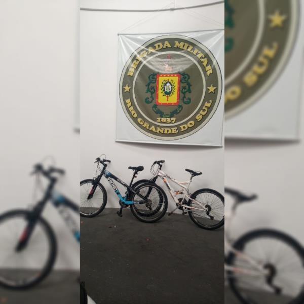 Brigada Militar de Santa Cruz localiza bicicletas furtadas