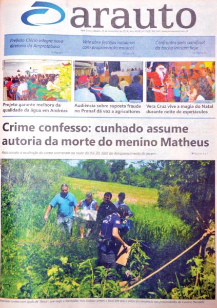 Jornal Arauto de 28 de novembro de 2014