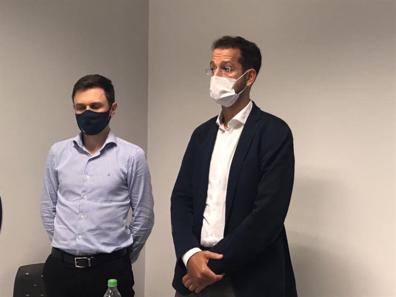 Diretores durante a coletiva de imprensa