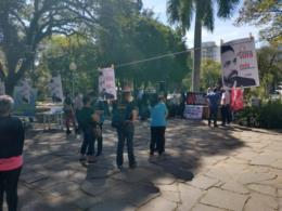 CPERS realiza protesto contra a PEC 32 em Santa Cruz. Veja fotos