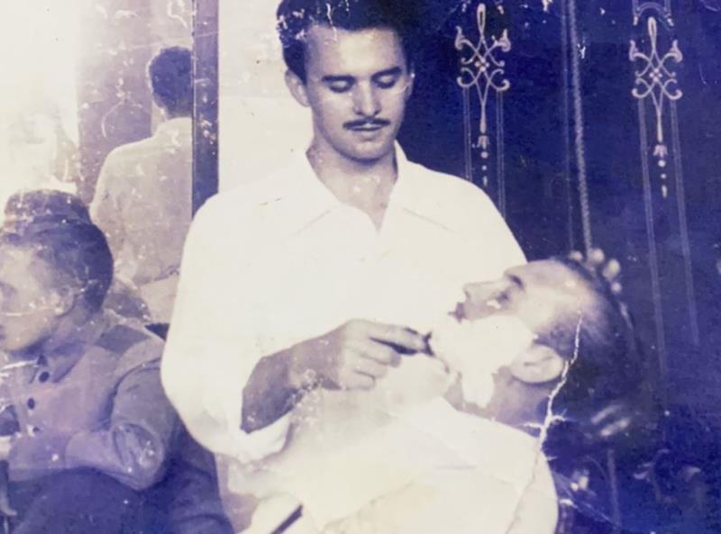 Registro com o pai Nestelio Calmo Kist, no início da carreira
