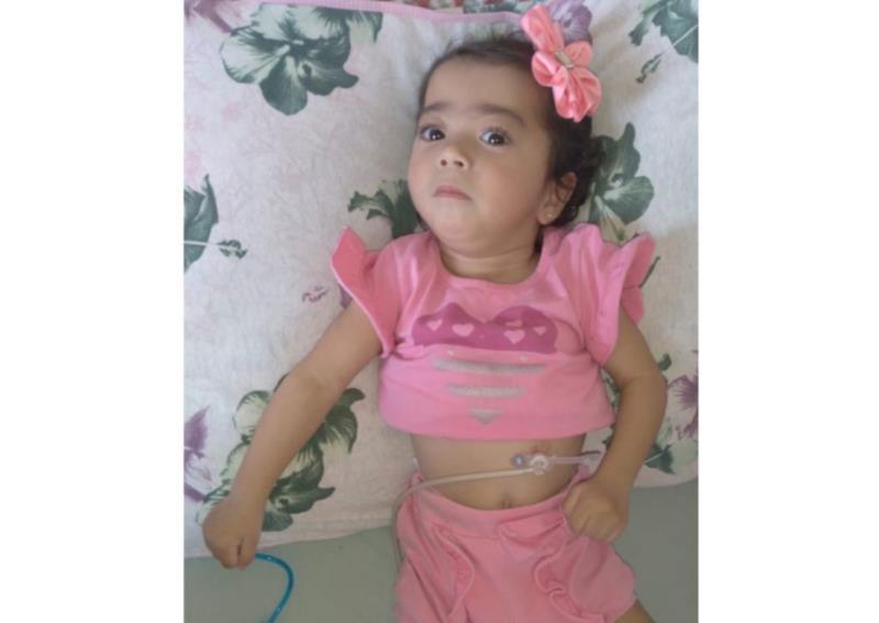 Eduarda Santana Pereira tem 1 ano e 5 meses