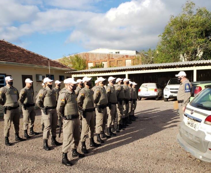 Turma está realizando estágio operacional supervisionado onde atuam no policiamento juntamente de policiais militares experientes