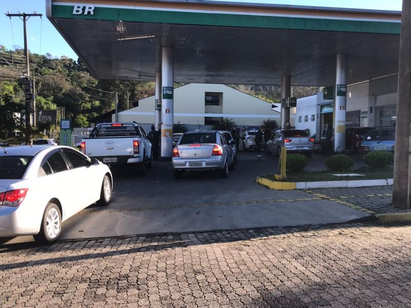 Imagem registrada em um posto de combustível localizado na Avenida Independência