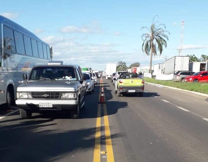 Região tem quatro pontos de manifestação de caminhoneiros