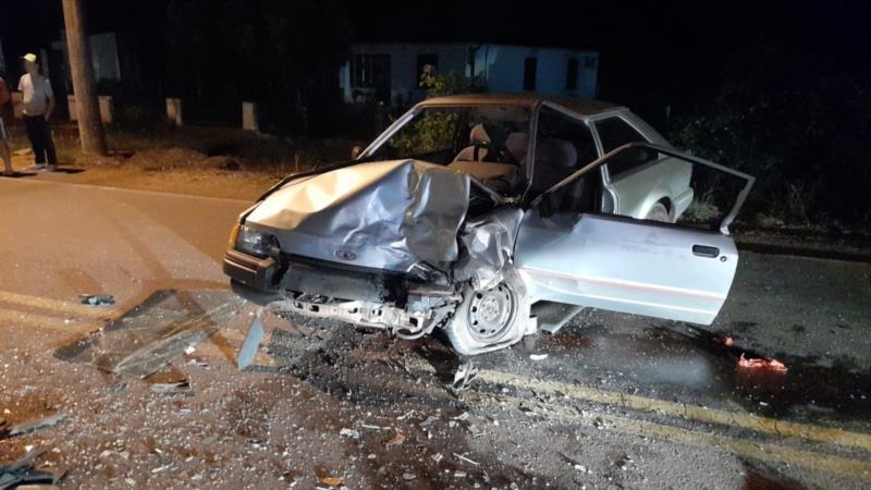 Colisão frontal deixa três pessoas feridas na RSC-471 em Santa Cruz