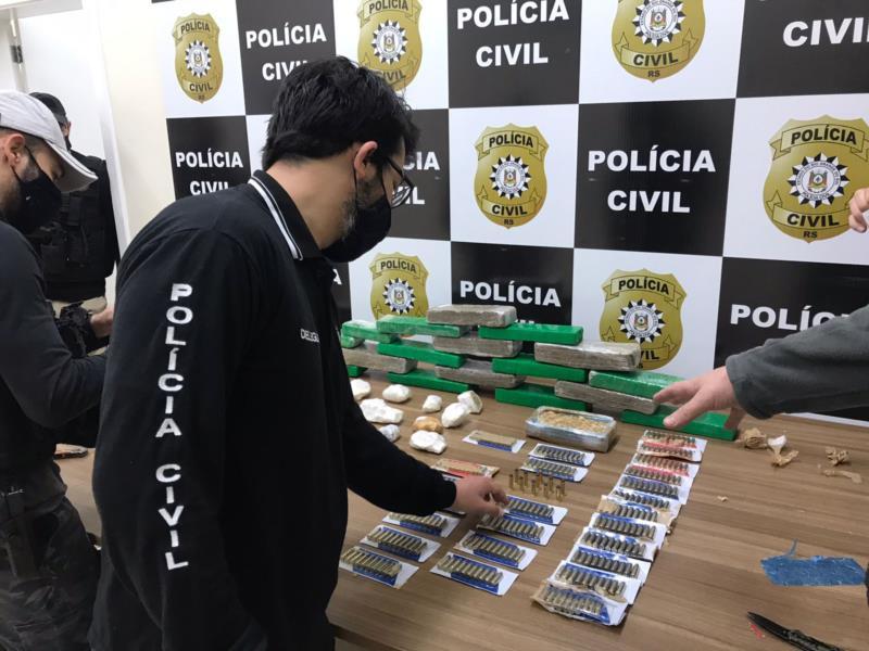 Ação foi realizada pela Polícia Civil no Bairro Santa Vitória