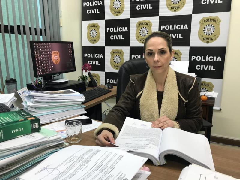 Delegada Ana Luisa Aita Pippi, responsável pelas investigações