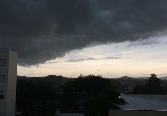 Região pode ser atingida por temporal
