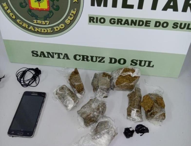 Brigada Militar apreende drogas e celular no Presídio Regional de Santa Cruz